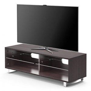 1home TV Cabinet Bois Etagères Adjustable Pieds Forme U Largeur 120cmm, Marron de la marque 1home image 0 produit