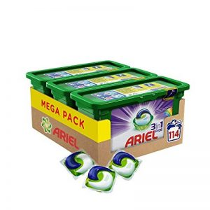 Ariel 3en1 Pods - Ecodoses Couleur & Style - Lessive en capsules - 114 lavages (pack de 3x38 capsules) de la marque ARIEL image 0 produit