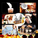 AYAOQIANG Shaker à Cocktail,Shaker Cocktail Professionnel 12 Pièces,Cocktail Shaker 750ml Kit Barman avec Support en Bois de la marque AYAOQIANG image 3 produit