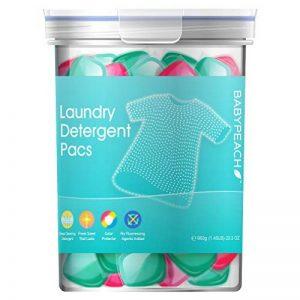 Babypeach Lot de 2 dosettes de lessive naturelles 3 en 1 Doux pour la peau et les vêtements, 42 pièces, 60 g de la marque BABYPEACH image 0 produit