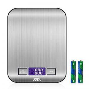Balance Cuisine Electronique Balance de Précision - Balance numérique de cuisine de Haute Précision, 5kg/1g, Acier Inoxydable Tactile Sensible Écran LCD Rétroéclairé Auto-arrêt de la marque ADORIC image 0 produit