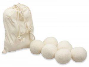 Balles & Sèche-linge Sèche-linge Boules en sachet 100% véritable Nouvelle-Zélande de coton–schonender Adoucissant Soft, avec lin de la marque Wunderfabrik image 0 produit
