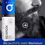 Beardix – Accélérateur de pousse de barbe | Principe actif primé | FABRIQUE EN ALLEMAGNE | 100ml de spray hautement dosé | Pour une barbe dense et saine de la marque BOLD BEARDIX image 3 produit