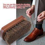 Beauxe Brosse à chaussures de luxe en crin de cheval - efficace pour nettoyer et entretenir le cuir des bottes, sièges auto, canapés, sacs à main, porte feuilles et aussi pour la barbe de la marque Beauxe image 3 produit