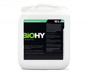 BIOHY Spülmittel (10 litre) Détergent pour lave-vaisselle, ultraconcentré, doux pour la peau, pour la gastronomie, l'industrie et la maison, détergent pour lave-vaisselle à main, dégraissant de la marque BIOHY image 0 produit
