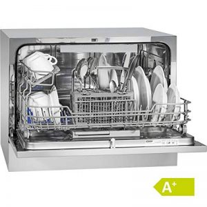 Bomann TSG 708 Lave-vaisselle/Classe énergétique A+ / 174 kWh/an / 6 indicateurs de contrôle MGD/LED / 5 programmes/argent [Classe énergétique A de la marque Bomann image 0 produit