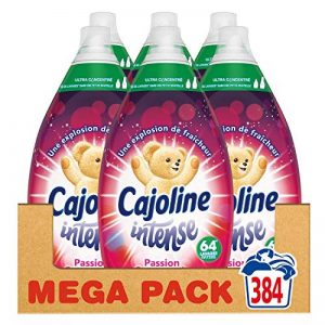 Cajoline Intense Adoucissant Ultra Concentré Parfumé Passion Gourmande 384 Lavages (Lot de 6x64 Lavages) de la marque Cajoline image 0 produit