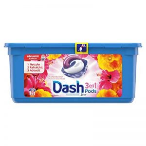 Dash 3en1 Pods Fleurs De Lotus Et Lys Lessive en Capsules - 87 lavages (Lot de 3 x27 doses) de la marque Dash image 0 produit