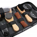 Dee Plus kit d'entretien de la chaussure Kit pour Cirage de Chaussures avec étui élégant en cuir PU, Kit pour cirage de chaussures de voyage 9 pièces de la marque Dee+Plus image 1 produit