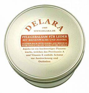 DELARA Baume d'entretien pour Cuir de Haute qualité avec jojoba et Cire d'abeille - protège efficacement Le Cuir Lisse du dessèchement et de l'oxydation, Seau de 500 ML - incolore de la marque DELARA image 0 produit