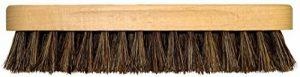 DELARA Deux grandes brosses à lustrer en bois avec rainure de préhension ; en crin de cheval souple de grande qualité ; couleur : brun et noir de la marque Delara image 0 produit