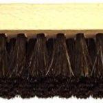 DELARA Deux grandes brosses à lustrer en bois avec rainure de préhension ; en crin de cheval souple de grande qualité ; couleur : brun et noir de la marque Delara image 2 produit