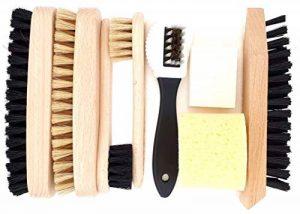 DELARA Ensemble de cirage pour chaussures 9 pièces avec brosses en bois et poils naturels – fabriqué en Allemagne de la marque DELARA image 0 produit