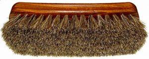 DELARA Grande brosse à lustrer en bois vernis, crin de cheval souple gris argenté - fabriqué en Allemagne de la marque DELARA image 0 produit