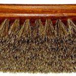 DELARA Grande brosse à lustrer en bois vernis, crin de cheval souple gris argenté - fabriqué en Allemagne de la marque DELARA image 2 produit