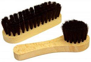 DELARA Une petite brosse à chaussures et une petite brosse à cirage en poils naturels, couleur: noir de la marque Delara image 0 produit