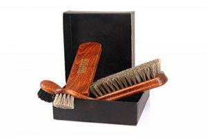 Ensemble de brosses à chaussures brillantes Classic Edition - Brosse de crins fabriqués en bois de hêtre z2487 de la marque Die-Schuhanzieher image 0 produit