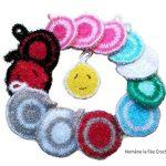 Eponge tawashi durable, accessoire pour la vaisselle ou le corps, lavable en machine, fait main au crochet, coloris au choix, de la marque N/D image 2 produit