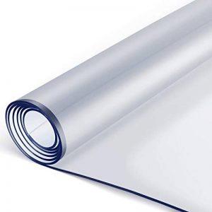 Femor Nappe Transparente en PVC écologique, Protection de Table 90 * 160 * 0.2CM, Imperméable, résistant à l'huile, antidérapant, résistant aux Rayures, Facile d'entretien de la marque Femor image 0 produit