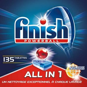 Finish Pastilles Lave-Vaisselle Powerball All in One Max Taches Tenaces au Bicarbonate - 135 Tablettes Lave-Vaisselle de la marque Finish image 0 produit