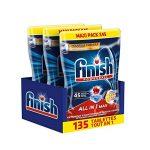 Finish Pastilles Lave-Vaisselle Powerball All in One Max Taches Tenaces au Bicarbonate - 135 Tablettes Lave-Vaisselle de la marque Finish image 1 produit