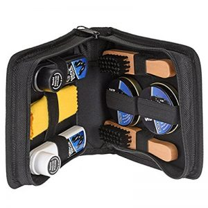 Générique Kit de Cirage Chaussure 8 Pièces Noir et incolore : Brosse de Cirage, crème, Chiffon, Chausse-Pied. de la marque Générique image 0 produit
