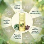 Huile de ricin pressée à froid PraNaturals 500 ml – 100% naturelle, végane, pure, pour encourager la croissance des cheveux et des cils, adoucir la peau et le visage. Riche en OMEGA-6 et OMEGA-9 de la marque PraNaturals image 2 produit