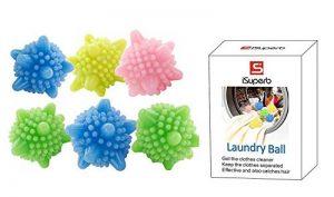 iSuperb boule de lavage Balle à Billes machine ecologique Colorée Solide Ensemble de 6 de la marque iSuperb image 0 produit