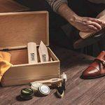 Kit d'entretien de chaussures Kit en bois Boîte à valets style Verona, crème à chaussures à base d'eau Kaps avec brosses, fabriquée en Europe, bottes de nettoyage en cuir brillant, 10 pièces de la marque Langlauf-Schuhbedarf image 1 produit