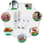 Kitchenboss Sac Sous Vide Alimentaire Pack de 4 rouleaux 20cmx5M et 28cmx5M pour appareil de mise sous vide économiseur de nourriture et sous vide cuisine, sans BPA, Approuvé par la FDA de la marque KitchenBoss image 1 produit