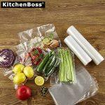 Kitchenboss Sac Sous Vide Alimentaire Pack de 4 rouleaux 20cmx5M et 28cmx5M pour appareil de mise sous vide économiseur de nourriture et sous vide cuisine, sans BPA, Approuvé par la FDA de la marque KitchenBoss image 4 produit