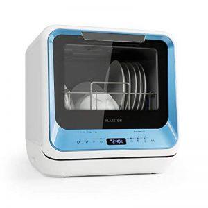 Klarstein Amazonia Mini - Lave-vaisselle, Bras d'aspersion supérieur et inférieur, Six programmes, Pratique, Prêt à l'emploi, Écran LED, Fonction vapeur, Bleu de la marque KLARSTEIN image 0 produit