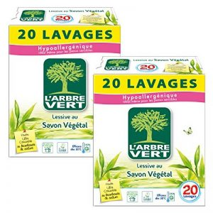 L'arbre vert Lessive en Poudre 20 Lavages - Lot de 2 de la marque LArbre-Vert image 0 produit