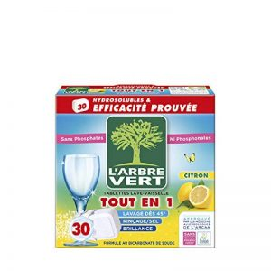 L'arbre vert Tablettes Lave Vaisselle Hydrosolubles Citron 30 Tablettes 547,5 g de la marque LArbre-Vert image 0 produit