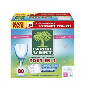 L'arbre vert Tablettes Lave-Vaisselle Hydrosolubles tout en 1 80 Doses Nouveau de la marque LArbre-Vert image 0 produit