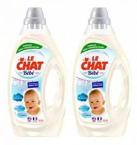 Le Chat Bébé - Lessive Liquide Hypoallergénique - 60 Lavages (Lot de 2 x 1,6L) de la marque Le-Chat-Bebe image 0 produit