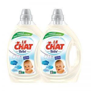 Le Chat Bébé - Lessive Liquide Hypoallergénique - 88 Lavages (Lot de 2 x 2,2L) de la marque Le-Chat-Bebe image 0 produit