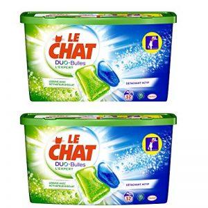 Le Chat L'Expert Duo-Bulles - Lessive en Capsules - 64 lavages - Lot de 2 de la marque Le-Chat image 0 produit