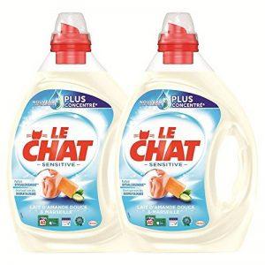 Le Chat Sensitive - Lessive Liquide - Lait d'amande douce et Marseille - 80 Lavages (Lot de 2 x 2L) de la marque Le-Chat image 0 produit