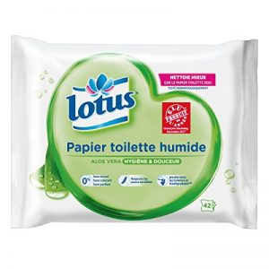 Lotus Aloe Vera - Papier Toilette humide - Lot de 6 paquets de 42 feuilles de la marque Lotus image 0 produit