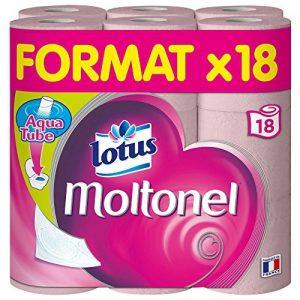 Lotus Moltonel - Papier toilette 3 épaisseurs Rose - 18 rouleaux de la marque Lotus image 0 produit