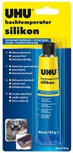 Mastic de silicone pour haute température, 80ml, noir, 46735, par UHU de la marque UHU image 0 produit