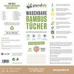 pandoo | Rouleau de papier essuie-tout lavable pour la cuisine | Produit écologique et réutilisable en fibre de bambou | 20 feuilles - Lingette plus absorbante de la marque pandoo image 1 produit