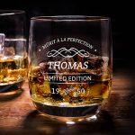 Personello® verre à whisky gravé, édition limitée [nom] et [année] personnalisé, verre à whiskey avec gravure, Idée cadeau anniversaire de la marque Personello image 1 produit