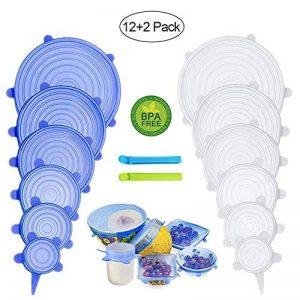 PHYLES Couvercle Silicone Alimentaire, 12 pcs Réutilisable Couvercles Silicone Extensible pour la Conservation des Aliments - sans BPA, Réduire Le Film Plastique - Protéger l'environnement de la marque PHYLES image 0 produit