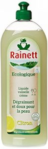 Rainett Liquide Vaisselle Ecologique au Citron Peaux Sensibles Ecolabel 750 ml Lot de 4 de la marque Rainett image 0 produit