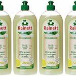 Rainett Liquide Vaisselle Ecologique au Citron Peaux Sensibles Ecolabel 750 ml Lot de 4 de la marque Rainett image 4 produit