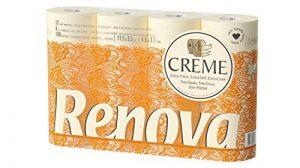 Renova Lot de 12 rouleaux de papier toilette 4épaisseurs parfumés Crème de la marque Renova image 0 produit