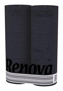 RENOVA Noir Label Papier Toilette Noir (Lot de 2, 12au total) de la marque Renova image 0 produit
