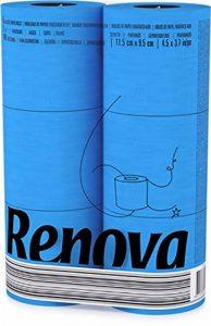 Renova Papier Hygiénique Bleu (6 Rouleaux) de la marque Rénova image 0 produit